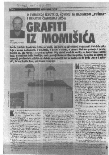 Budvanski zapisi - Grafiti iz Momišića