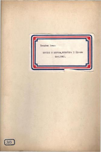 Zapisi iz Lopuda, Koločepa i Šipana, 1961.