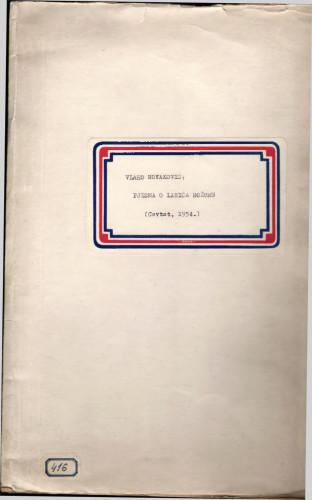 Pjesma o Lasiću Božuru, Cavtat, 1954.
