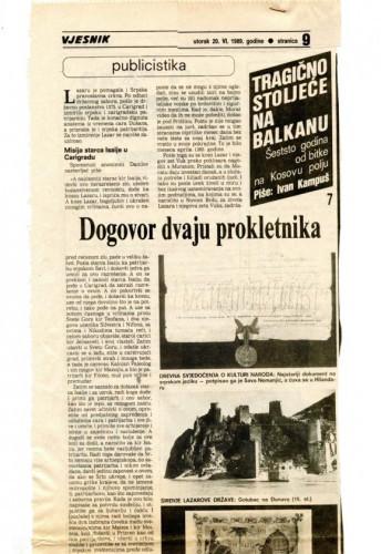 600 godina od bitke na Kosovu polju (7. dio) - Dogovor dvaju prokletnika
