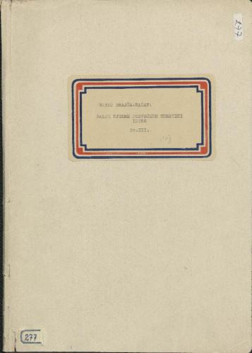 Pjesme posvećene tematici Istre, 1917- 1923., sv. III.