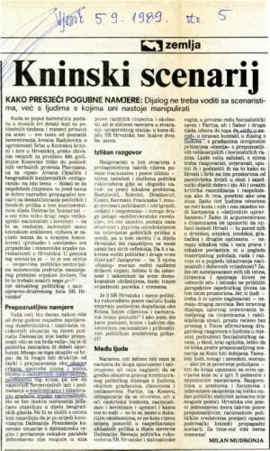 Proslava Kosovske bitke - Kninski scenarij