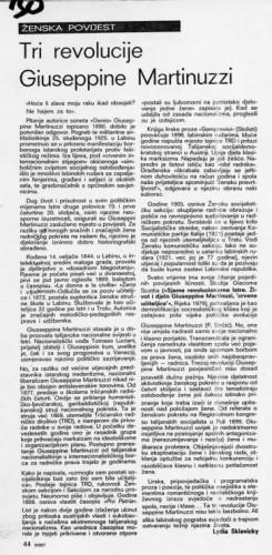 Tri revolucije Giuseppine Martinuzzi