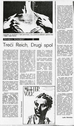 Treći Reich, Drugi spol