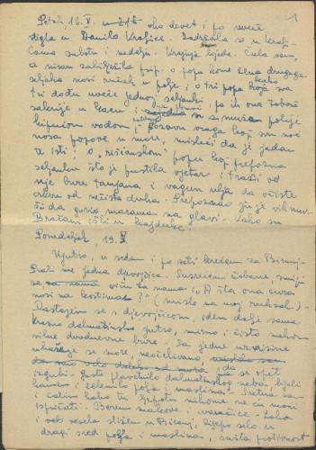 Narodne pjesme, pripovijetke i običaji iz okolice Šibenika i Drniša, 1952. Terenska bilježnica - prilog.