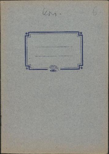Folklorna građa iz Konavala 2, 1961. Terenska bilježnica br. 6.