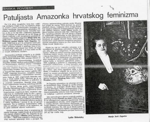 Patuljasta Amazonka hrvatskog feminizma
