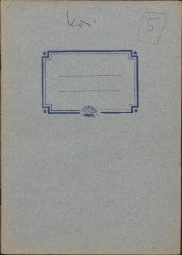 Folklorna građa iz Konavala 2, 1961. Terenska bilježnica br. 5.