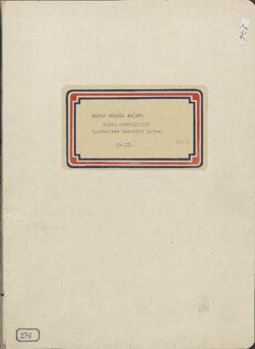 Razne kompozicije posvećene tematici Istre, 1902- 1903. , sv. II.