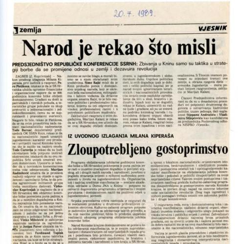 Proslava Kosovske bitke - Narod je rekao što misli