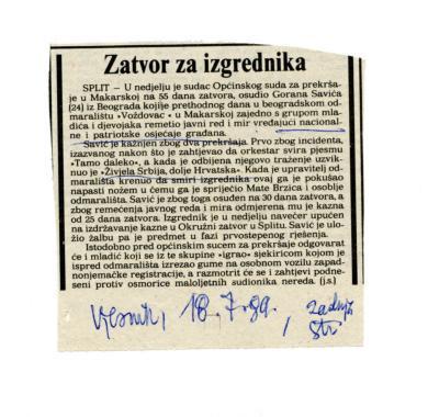 Nacionalizmi - Incident u Makarskoj