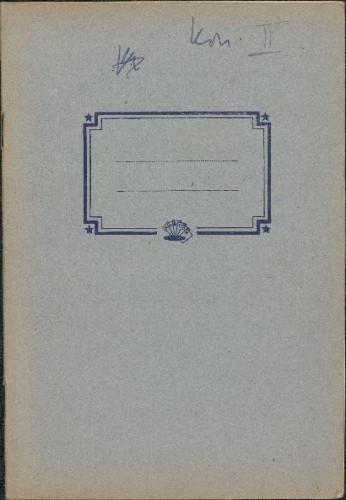 Folklorna građa iz Konavala 2, 1961. Terenska bilježnica br. 2.