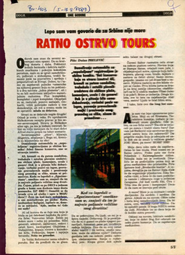 Ratno ostrvo Tours