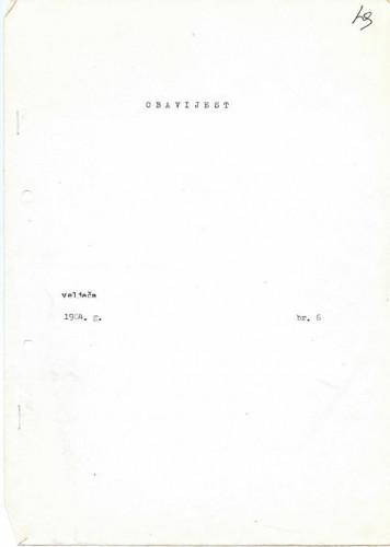 Obavijesti SDH-a, 1984., br. 6