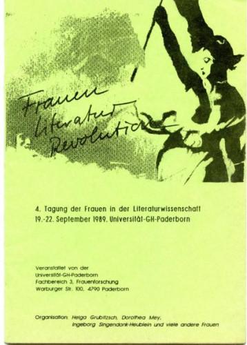 Kongres Frauen-Literatur-Revolution, Paderborn, 1989,