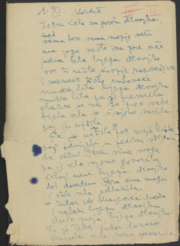 Narodne pjesme, običaji, priče, predaje i drugo iz Konavala, 1954. Terenska bilježnica  br. 4.