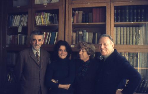 U biblioteci INU: Nikola Bonifačić Rožin, Mirena Pavlović, Dora Narić, Zoran Palčok.