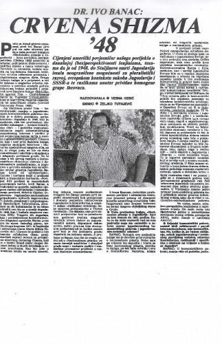 Crvena shizma '48 (intervju s Ivom Bancem)