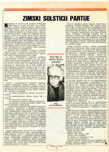 Božić 1988. - Zimski solsticij partije