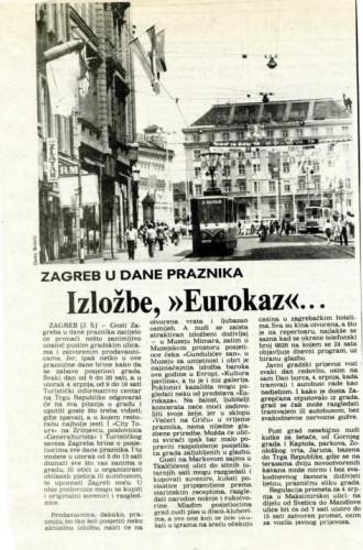Dan borca - Zagreb u dane praznika
