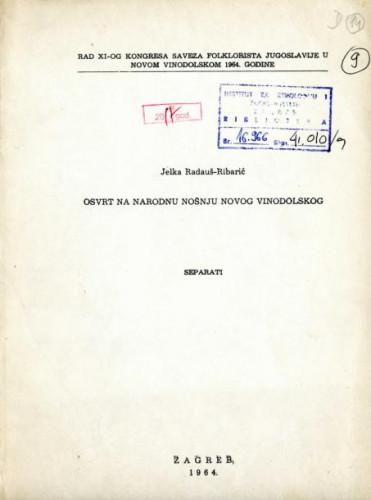 Osvrt na narodnu nošnju Novog Vinodolskog