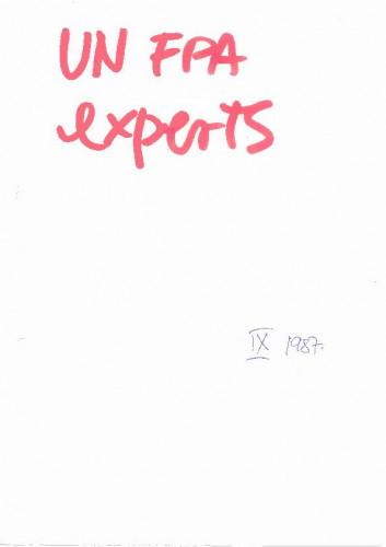 UNFPA experts