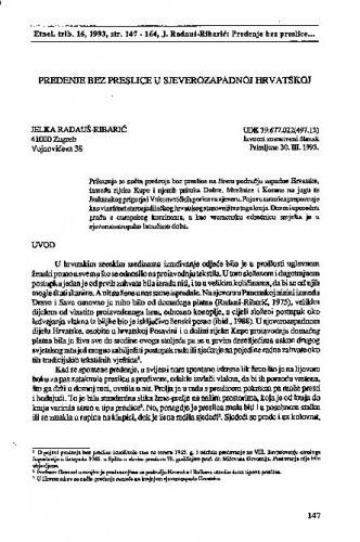 Predenje bez preslice u sjeverozapadnoj Hrvatskoj
