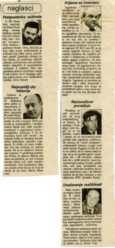 Dan ustanka 1989. - naglasci