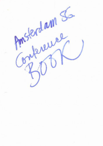 Amsterdam 1986. - conference book