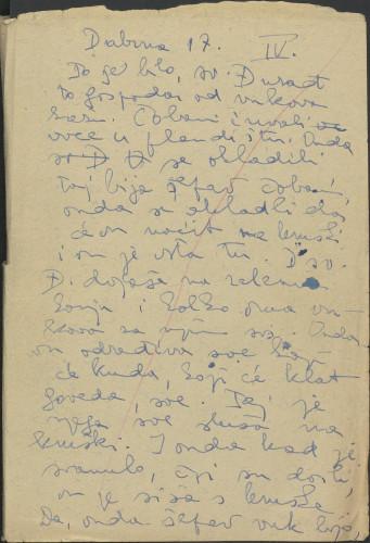Folklorna građa Banije 3, 1956. Terenska bilježnica br. 4.