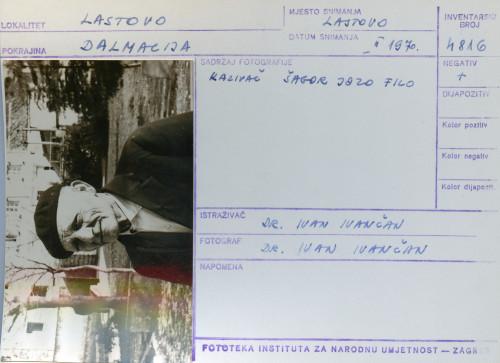 Plesni običaji otoka Lastova, 1970. Poklade. Kazivač Šagor Jozo Filo.