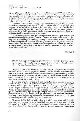 Jelka Radauš Ribarić, Ženska narodna nošnja u Istri (prikaz)