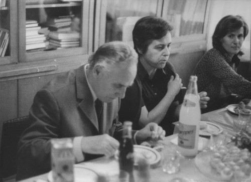 Olinko Delorko odlazi u mirovinu (snimljeno u biblioteci Instituta): Olinko Delorko, Dunja Rihtman Auguštin