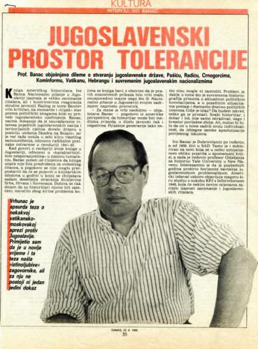 Jugoslavenski prostor tolerancije (intervju s Ivom Bancem)