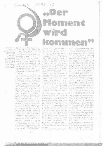 """""""Der Moment wird kommen"""" (članak)"""