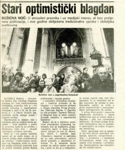 Božić 1988. - Stari optimistički blagdan