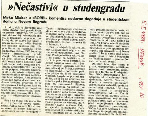 Božić 1988. -