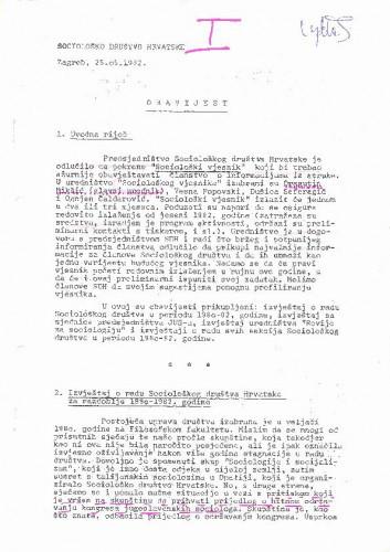 Obavijesti SDH-a, svibanj 1982.