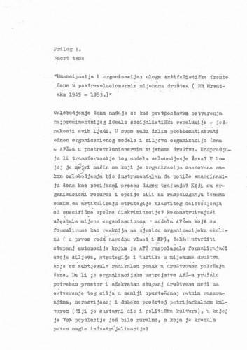 Nacrt teme doktorske disertacije