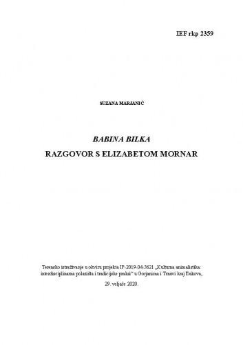 Babina Bilka; razgovor s Elizabetom Molnar