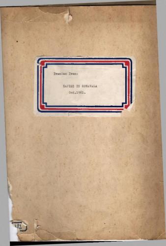 Zapisi iz Konavala, 1961.