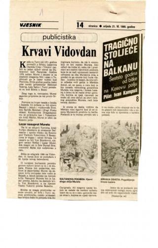 600 godina od bitke na Kosovu polju (8. dio) - Krvavi Vidovdan