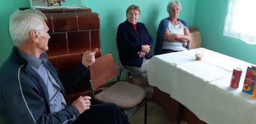 Kazivači Marijan Buden, Štefanija Šarkanj i Matilda Latin, Belec