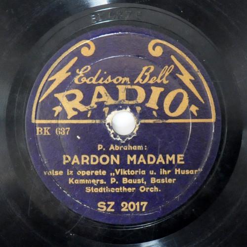 Pardon madame