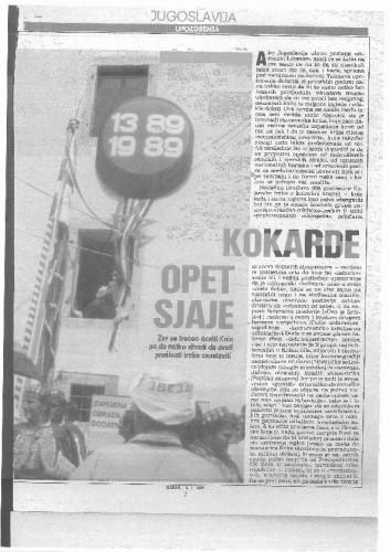 Proslava Kosovske bitke - Kokarde opet sjaje