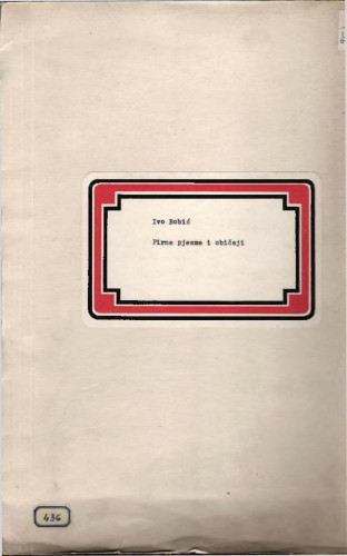Pirne pjesme i običaji. Selo Mravinjac, 1963.