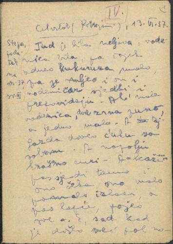 Folklorna građa okolice Đakova, 1957. Terenska bilježnica br. 4.