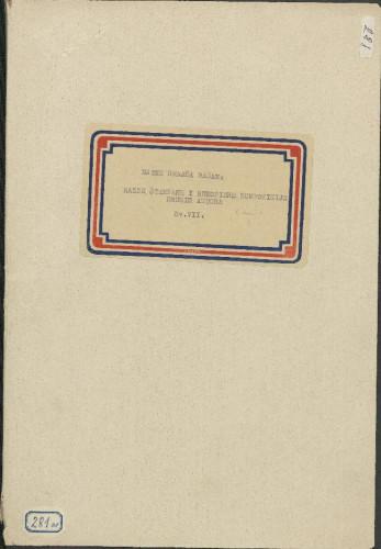 Razne štampane i rukopisne kompozicije drugih autora, sv. VII (dio a i b)