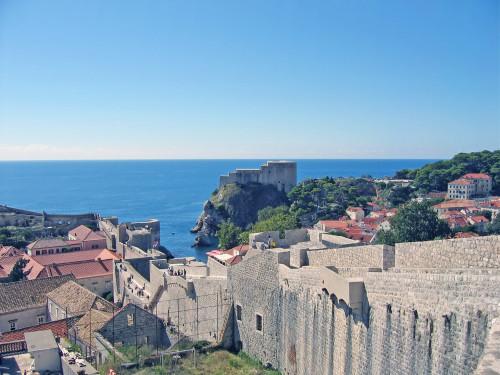 15th International Ethnological Food Research Conference: Mediteranean Food and It's Influence Abroad, Dubrovnik, 27. rujan - 3. listopad 2004.: Pogled na staru gradsku jezgru i zidine