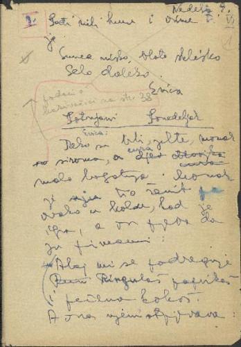 Folklorna građa okolice Đakova, 1957. Terenska bilježnica br. 1.